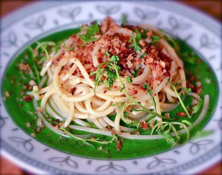 Spaghetti con le cimamarelle